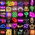 Оптовая продажа светодиодный неоновый ночной Светильник знак Wall Art светодиодный ночник неоновый Рождественский подарок на день рождения С...