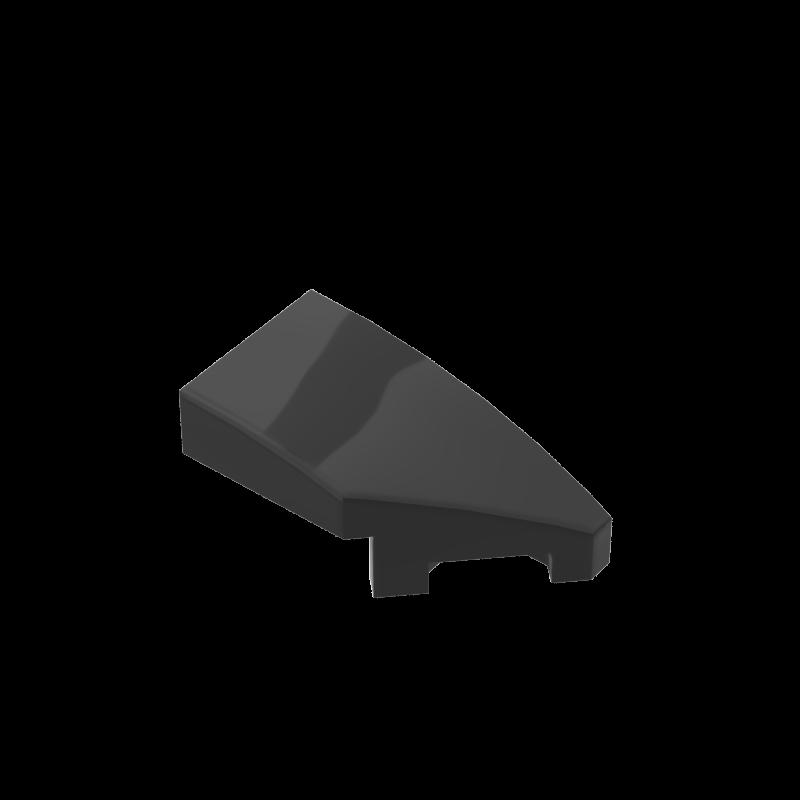 BuildMOC Compatible Assembles Particles 29119  29120 Wedge 2x1 With Stud Notch Left Right Building Blocks Parts Tech Parts Toys
