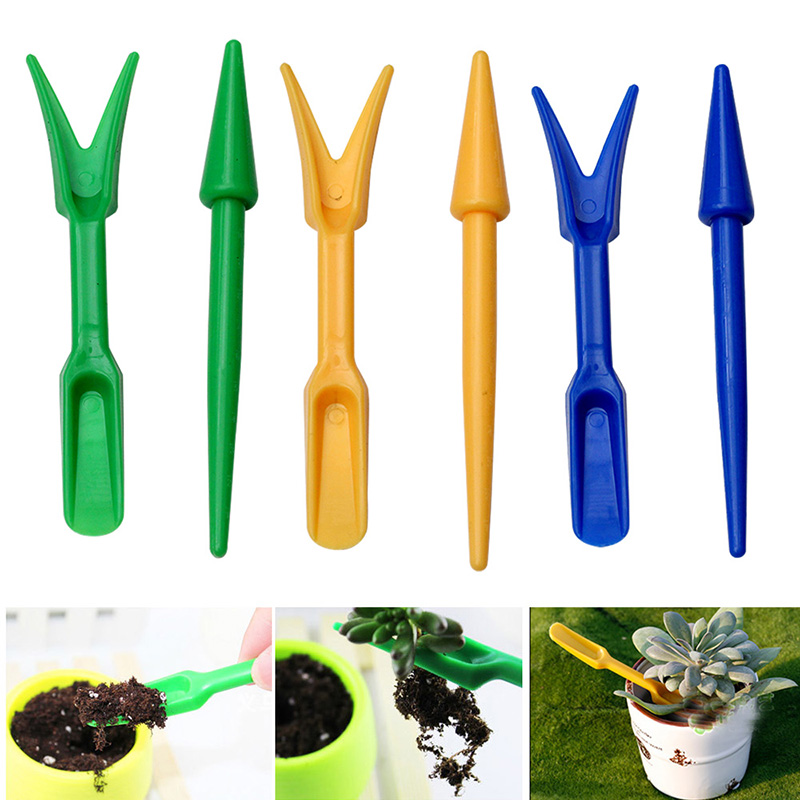 2Pcs Planting Tools Plastic Transplanting Device Planters Seedling Garden Nursery Trays Device Planters Digging Tool