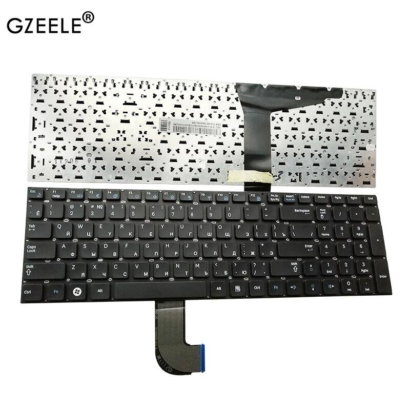 GZEELE NEW Russian RU Laptop Keyboard For Samsung RF712 RF710 RF711 RF730 Black PO No Frame BA59-02848L CNBA5902848 9Z.N6ASN.006