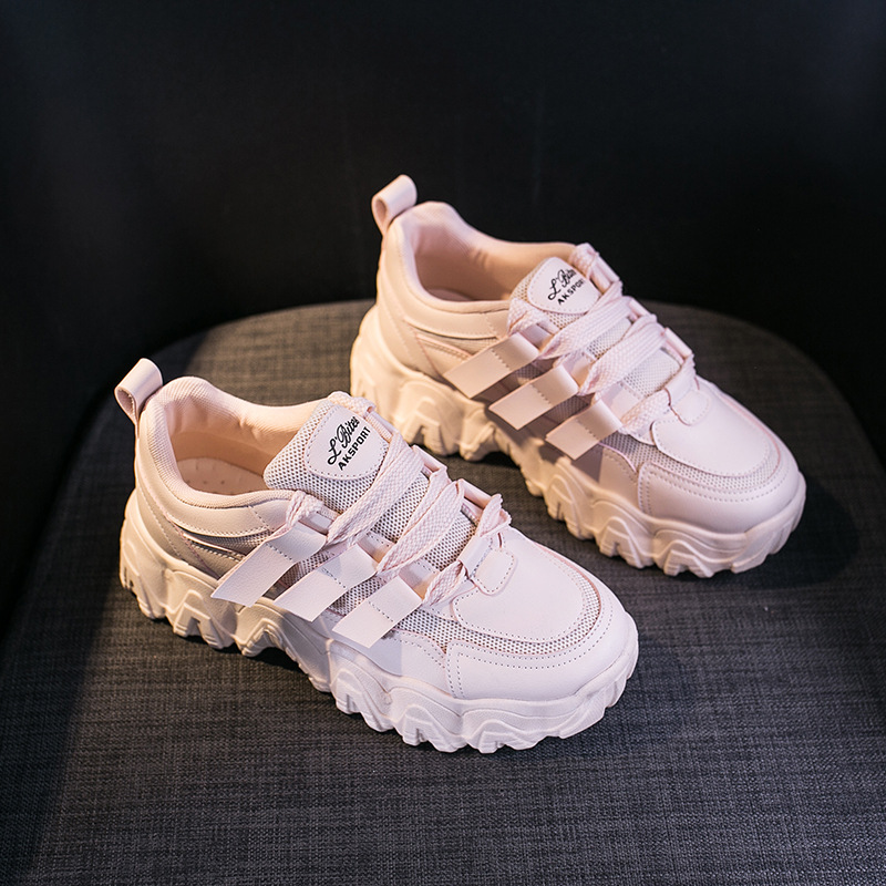 Trend Women Shoes 2020 Spring New Thick Increase Casual Sneakers Fashion Personality Breathable Sports Shoes Platform Sneakers