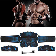 Abdominal Muscle Stimulator Trainer EMS Abs Fitness Equipment Training Gear Muscles Electrostimulator Toner Exercise At Home Gym electric training machine abdominal arm muscle trainer usb rechargeable electrostimulator muscular exercise gym equipment home