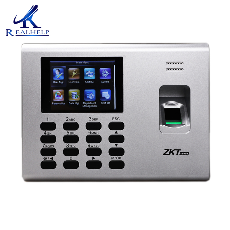 ZKTeco K40 Time Attendance Machine Simple Acccess Control Multi Languages Biometric Fingerprint