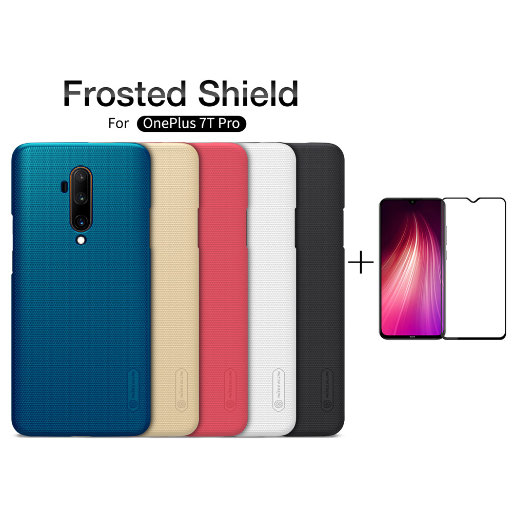 OnePlus 7T Case oneplus 7t pro Cover Nillkin Frosted Shield PC Hard Back Cover for OnePlus 7Pro OnePlus 6T With Glass protector