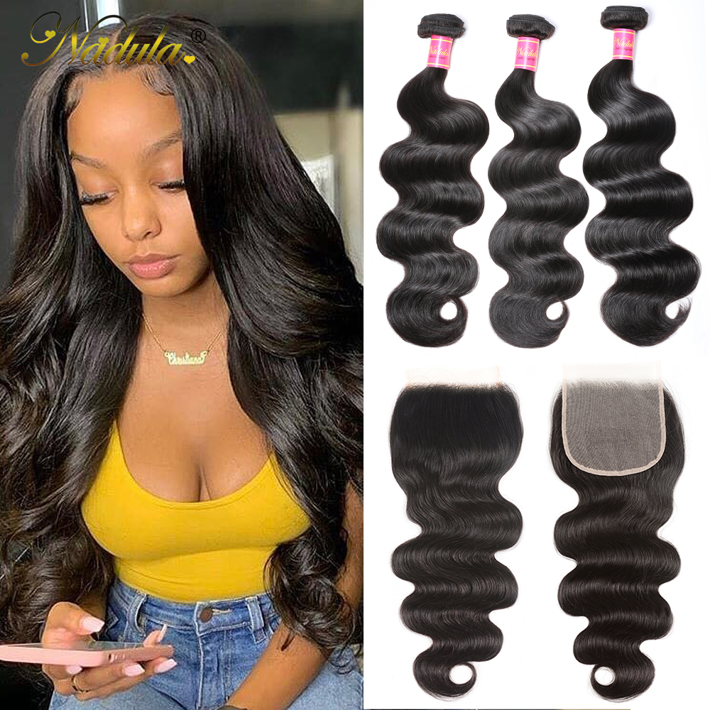 Nadula Hair Lace Closure With Body Wave Bundles   Bundles With Closure  Hair Lace Closure With Bundles 1