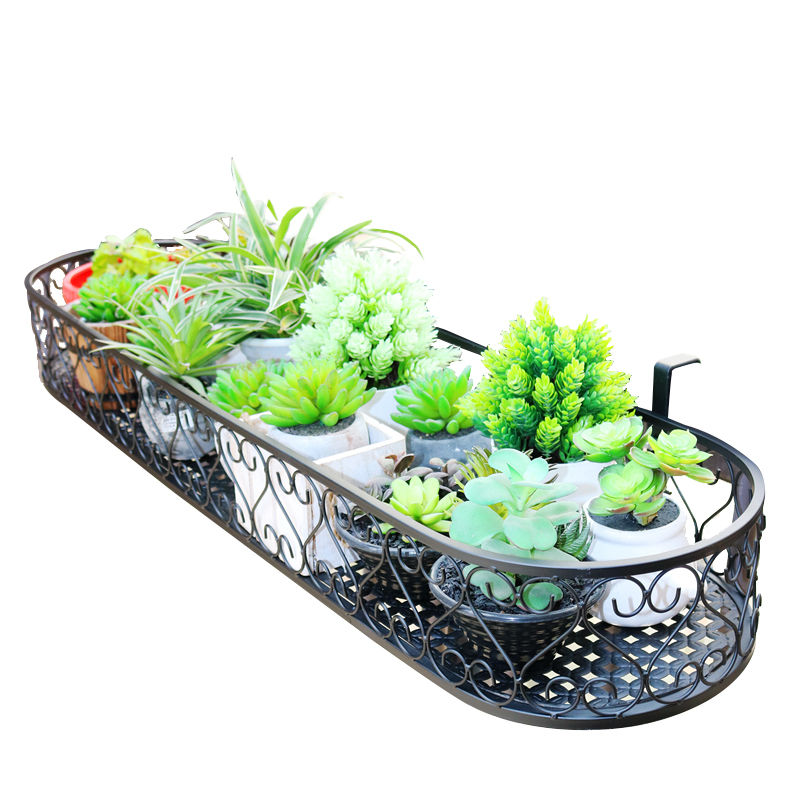 Balcony Railing Flower Stand Wall Hanging Railing Hanging Flower Stand Iron Balcony Railing Hanging Flower Stand Balcony Succule