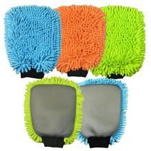 Fácil de secar premium macio super absorvência alta densidade toalha de lavagem de cuidado automático luva de limpeza de carro chenille esponja