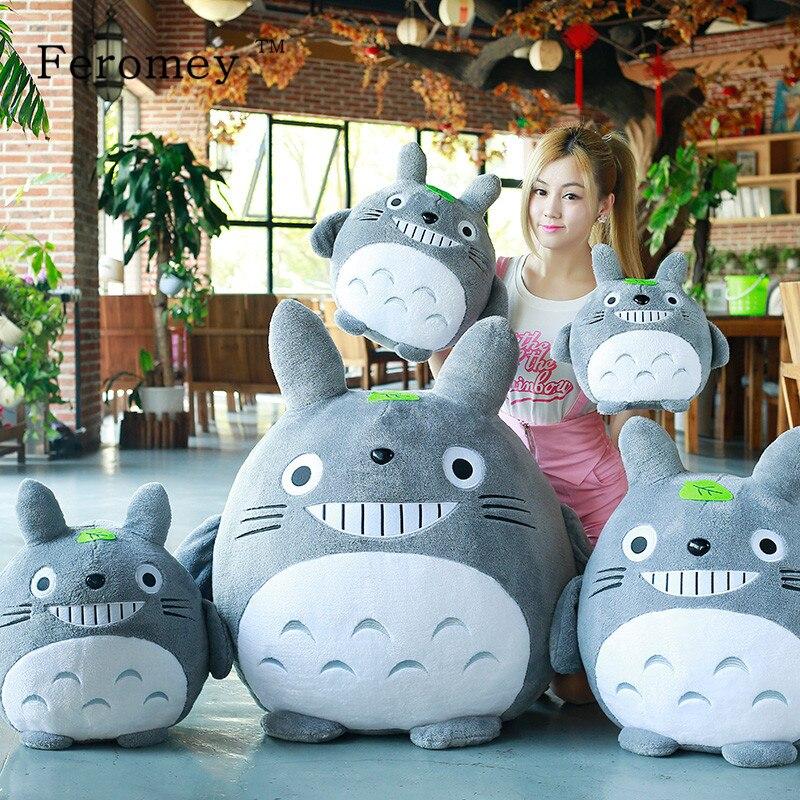 20/30/40/50cm Cute My Neighbor Totoro With Leaf Plush Toy Kawaii Totoro Stuffed Animal Anime Totoro Kids Children Cartoon Gift