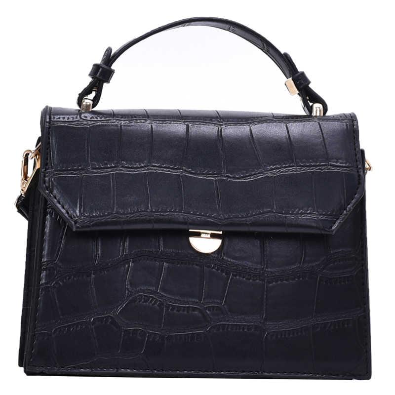 Stone bolsa carteiro feminina branca, bolsa pequena de mão em couro pu, feminina, 2020