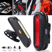 Bicycle Taillight Riding Flashlight USB Rechargeable LED Rear Light COB ABS Waterproof Cycling Tail-lamp