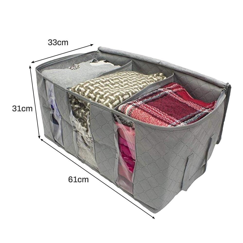 Складной тканевый ящик для хранения грязной одежды, чехол на молнии для игрушек, стеганая коробка для хранения, прозрачный влагостойкий Органайзер - Цвет: G252560B