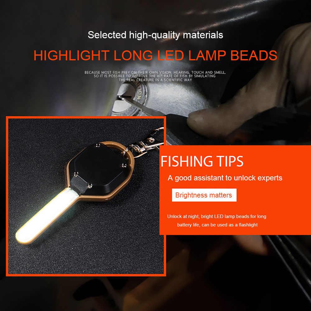 Mini Torch UV Outdoor Flashlight Multifunction Hiking Keychain Climbing 2 Modes