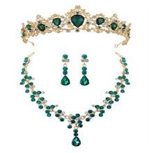 Diadema de novia de cristal de lujo a la moda, tiara de boda con diamantes de color rojo, verde y azul real, accesorios para el pelo para graduación