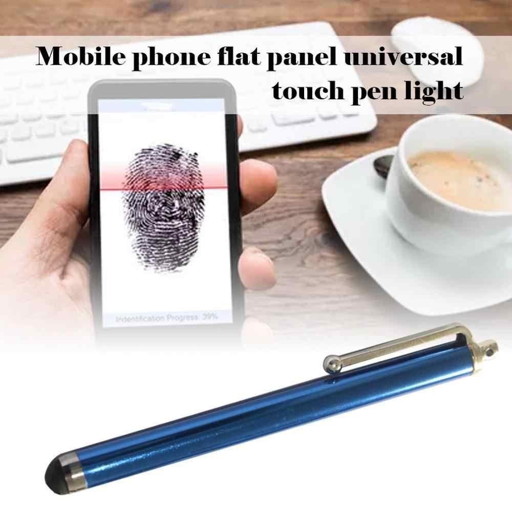 Işık cep telefonu kapasitör kalem Metal el yazısı dokunmatik ekran kalemi cep tablet telefon evrensel dokunmatik kalem