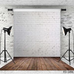 Image 3 - White Brick Wall Brown Floor Photography Background for Photo Studio Vinyl Cloth Portrait Photo Backdrop for Kid Baby Photophone