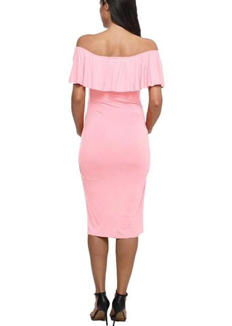 Off Shoulder  Women Maternity Dresses 5