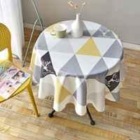 Nordic Stil Runde Tischdecke Einfache Wasserdichte Restaurant Hotel Haushalt Runden Tisch Tuch Druck Plaid