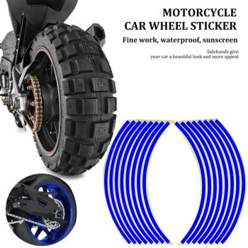 Motorcycle Car Wheel Sticker Wheel Ring Rim Ring Stickers Modified Wheel Stickers 18 Inch Tire Reflective Stickers image