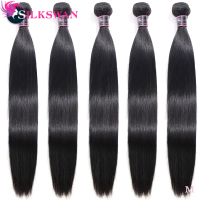 Silkswan Brazilian Remy Hair Bulk Buy 5pcs 10pcs Human Hair Bundles 28 Inch 30 Inch 32 34 36 Inch 40inch For women hair weft