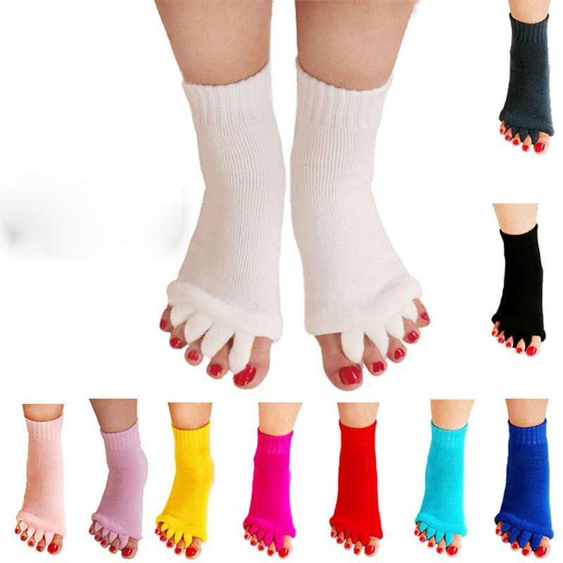 1 Pair Five Toe Socks Orthotics Separators For Toes Bunion Corrector Orthopedic Hallux Valgus Posture Correction Ectropion Corre