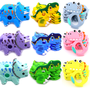 Dinosaur Shape Teether Teething For Baby Infant BPA Free Silicone Teether Teething For Chewable Chewing Toys Newborn Gift