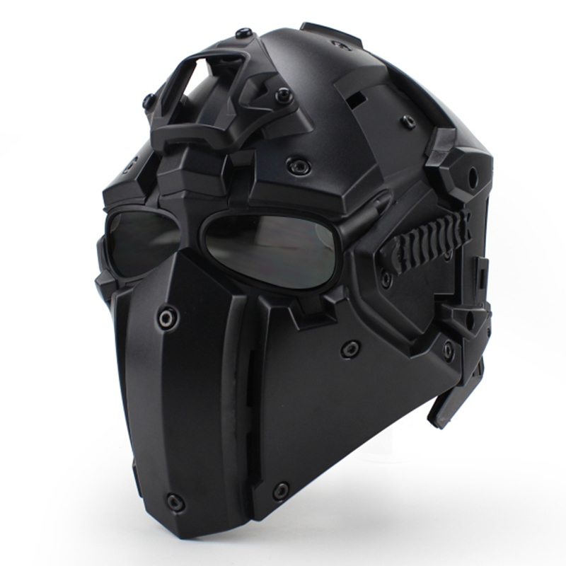 Motor Full Face Helmet Protective Obsidian Casque For Motorcycle Tactical Military Training Polymer Engineering Materials