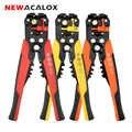 NEWACALOX Self-Adjusting CABLE Stripper CUTTER Crimper ตัด Multifunctional ไฟฟ้าอัตโนมัติ TERMINAL เครื่องมือ