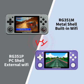 ANBERNIC RG351M RG351P Retro Video Game Console Aluminum Alloy Shell 2500 Game Portable Console RG351 Handheld Game Player 2