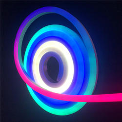 12v ws2811 цифровой неоновые полосы 60 светодиодов/m Sm16703 Пиксельная светодиодная неоновая трубка 5050smd прибор приемно-Водонепроницаемый гибкий
