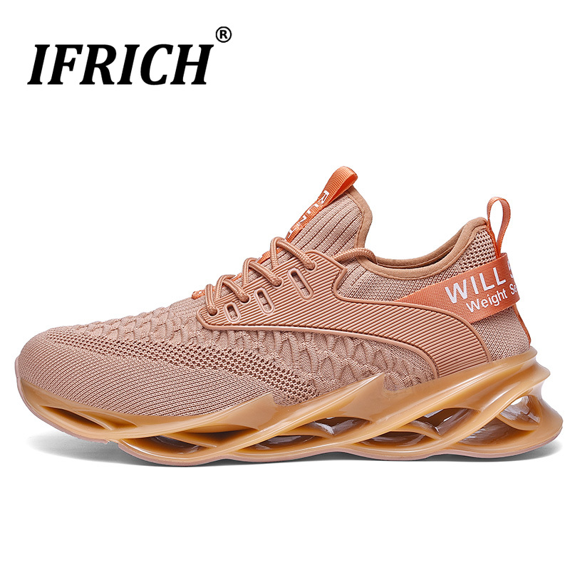 US $24.75 45% OFF|New Mens Sport Running Sneakers Black White Anti Slip Walking Jogging Shoes Brand Outdoor Athletic Gym Trainers Cheap Runners on