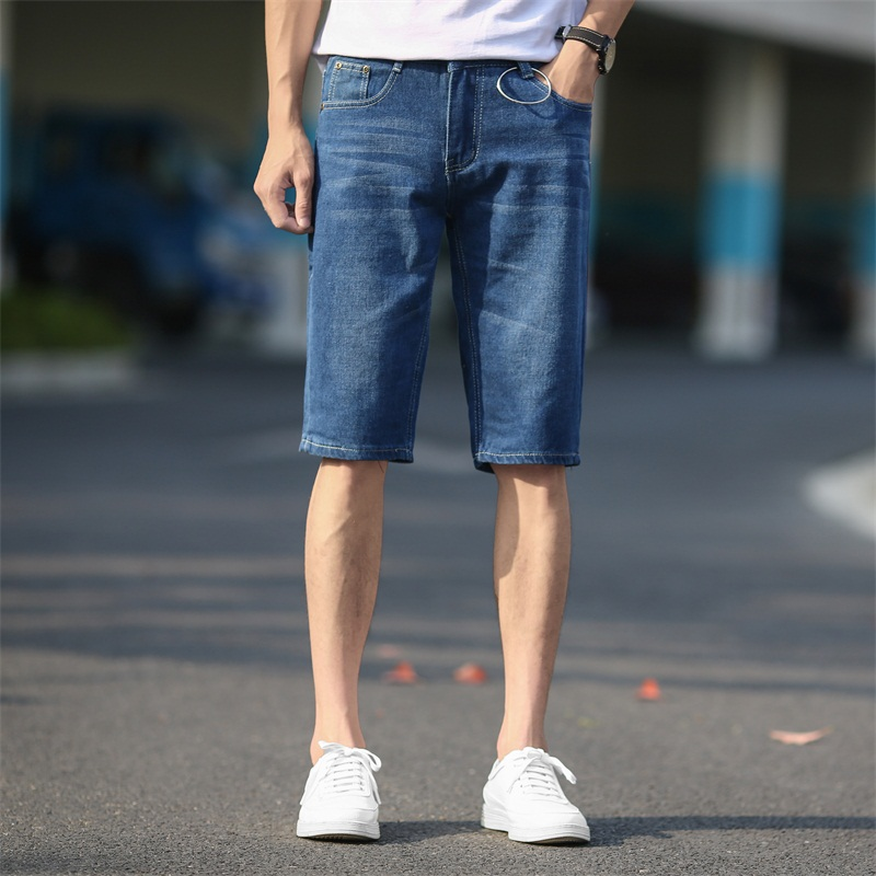 Nice Summer Pop Men Short Jeans Fashion VogueSlim Fit High Quality  Denim Shorts Male Brand Clothing Nice