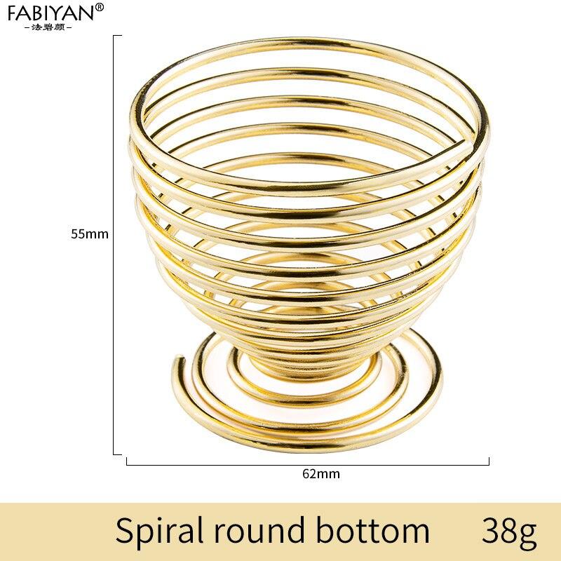 Gold Spiral round