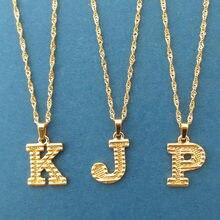 Collier avec lettres majuscules pour femmes, bijoux Boho en acier inoxydable, Alphabet Initial, cadeau pour meilleure amie, 2020