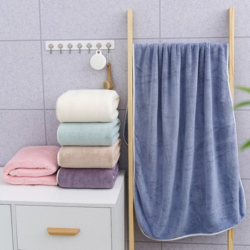 Family Match Bath Towel for Daily Life 6 Colors Solid Superfine Fiber Bathcloth for Adult Kid 70X140 CM Rectangle Towel