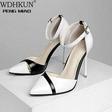 2020 HOT sale fashion Women Shoes Pointed Toe Pumps PU Leather Dress High