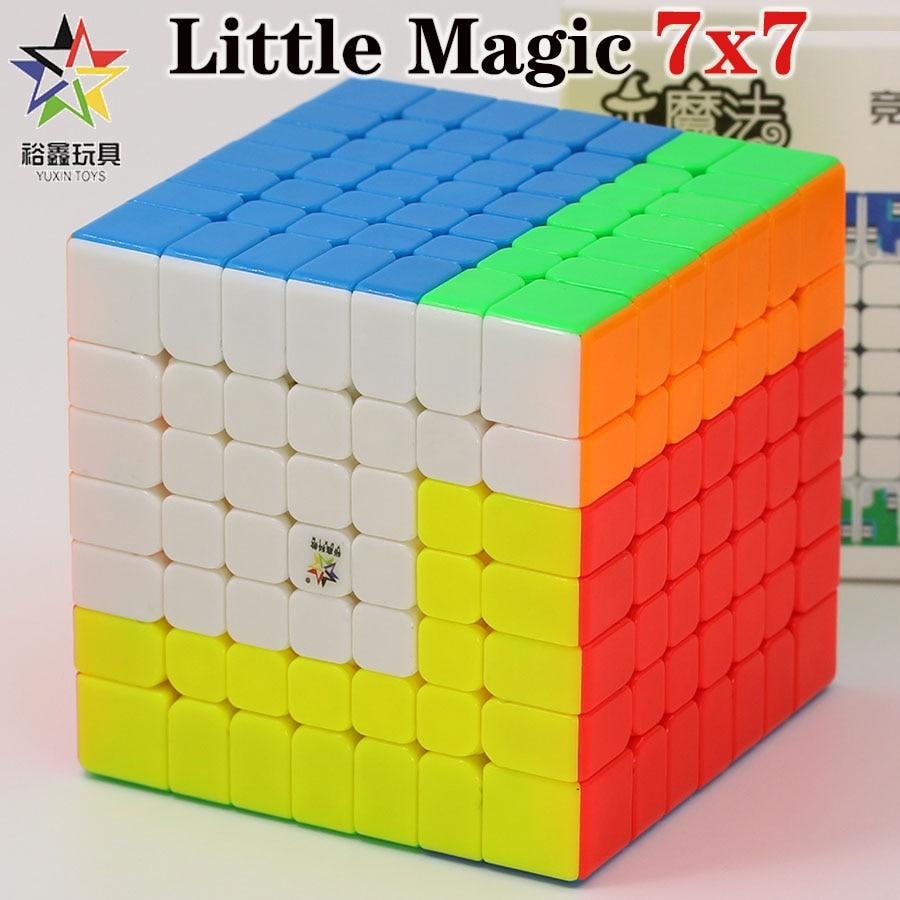 Magic cube puzzle YuXin Little Magic 7x7x7 7x7 magnetic cube M professional educational twist wisdom creative cube game toys