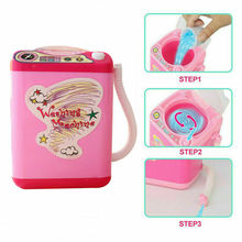 2020 Mini Electric Washing Machine Cosmetic Sponge Makeup Brushes Cleaner Wash Toys