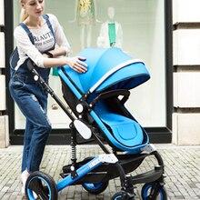 Wisesonle Детская коляска 2 в 1 3 в 1 Можно сесть или лечь четыре сезона ускоренная доставка удобный возврат