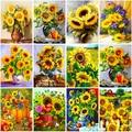 DIY Sunflower 5D Diamond Painting Full Round/Square Rhinestone Mosaic Diamante Embroidery Cross Stitch Wall Art Home Gift