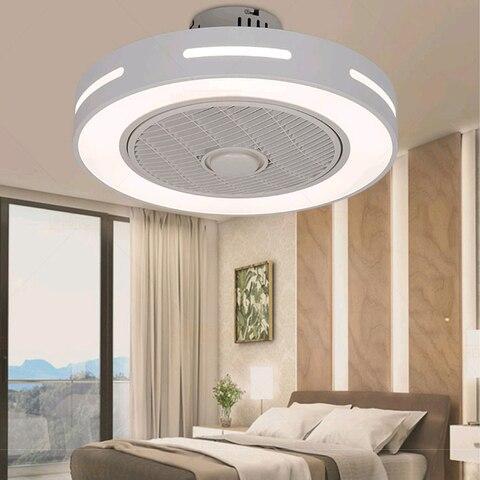 sala de estar ventilador teto com luz bluetooth led inteligente suporte de controle remoto aplicativo
