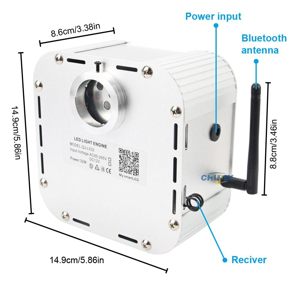 Contrôle de la musique 32W Smart APP contrôle scintillement 4 niveau vitesse RGBW moteur à fibres optiques effet ciel étoilé LED de plafond lumières 2019 nouveau - 5