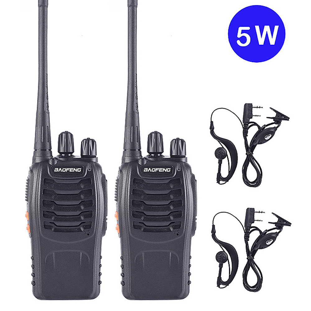 1PCS/2PCS For Baofeng BF-888s Walkie Talkie Portable Station UHF 400-470MHz 16CH Radio Communicator HF Transceiver