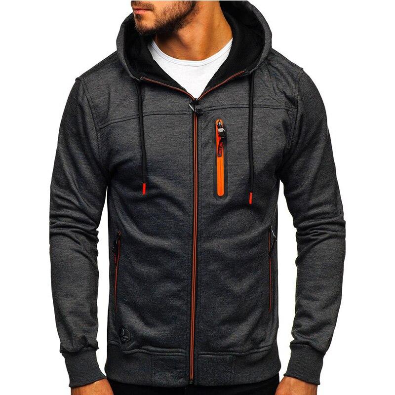 Mens Fashion Hoodies & Sweatshirts Men Hoodies Solid Color Hooded Slim Sweatshirt Male Tops Hoody Hip Hop Itself Streetwear XXL