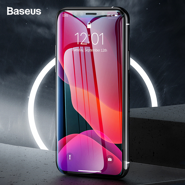 Baseus 2Pcs 0.3mm Screen Protector For iPhone 11 Pro Max Xs Max Xr X 11Pro Full Cover Protective Tempered Glass For iPhone11 Pro 1