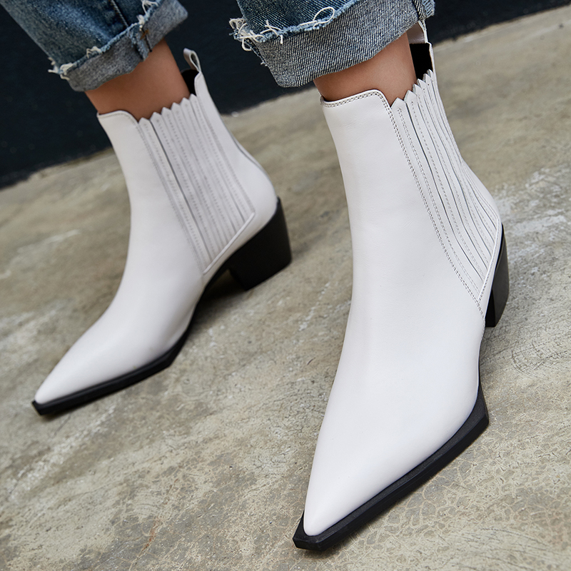 2019 Autumn New Women's PU Boots Black Women's Winter Chelsea Boots Slip on Ankle Boots for Women Brand Chaussure Bottes Femme