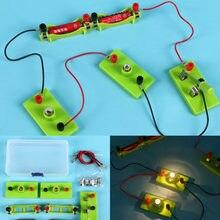 Crianças circuito básico kit de aprendizagem de eletricidade física brinquedos educativos para crianças stem experiência de ensino hands-on capacidade brinquedo
