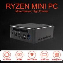 EGLOBALMini ПК AMD Ryzen R7 2700U R3 2200U Vega Graphic 2 * DDR4 M.2 NVMe игровой пк компьютер Windows 10 4K HTPC HDMI2.0 DP AC WiFi