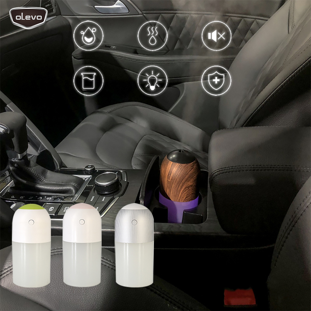 Mini 300ml USB Car Air Purifier Car Humidifier With Colorful Lights Car Aromatherapy Diffuser Air Freshener Home Room Diffuser