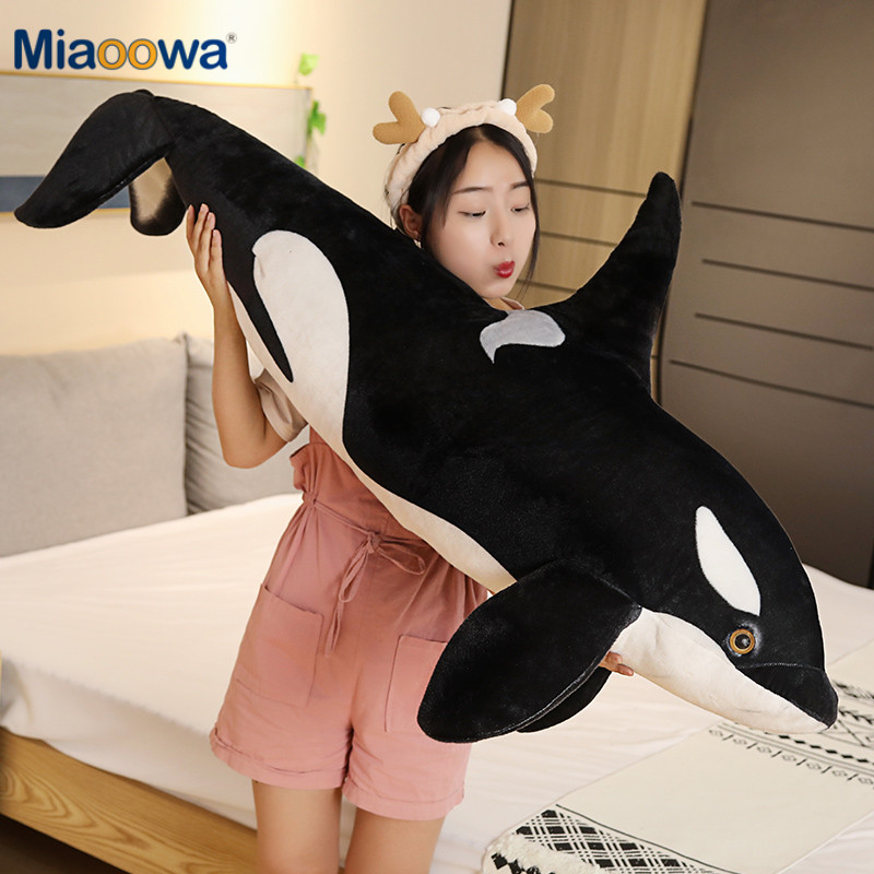 Simulation <font><b>Killer</b></font> <font><b>Whale</b></font> <font><b>Plush</b></font> Toys Stuffed Orcinus Orca Fish Doll Shark Cartoon Soft Sleep Pillow Kids Girls Baby Funny Gift image