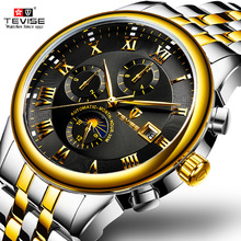 TEVISE Men Watch Top Brand Luxury Fashion Automatic Mechanical Watches Men Sport Waterproof Moon Prase Watch Relogio Masculino недорого